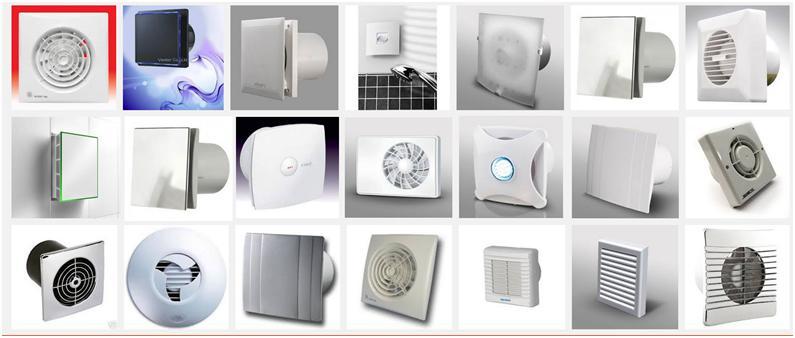 Образцы различных вентиляторов бытового типа