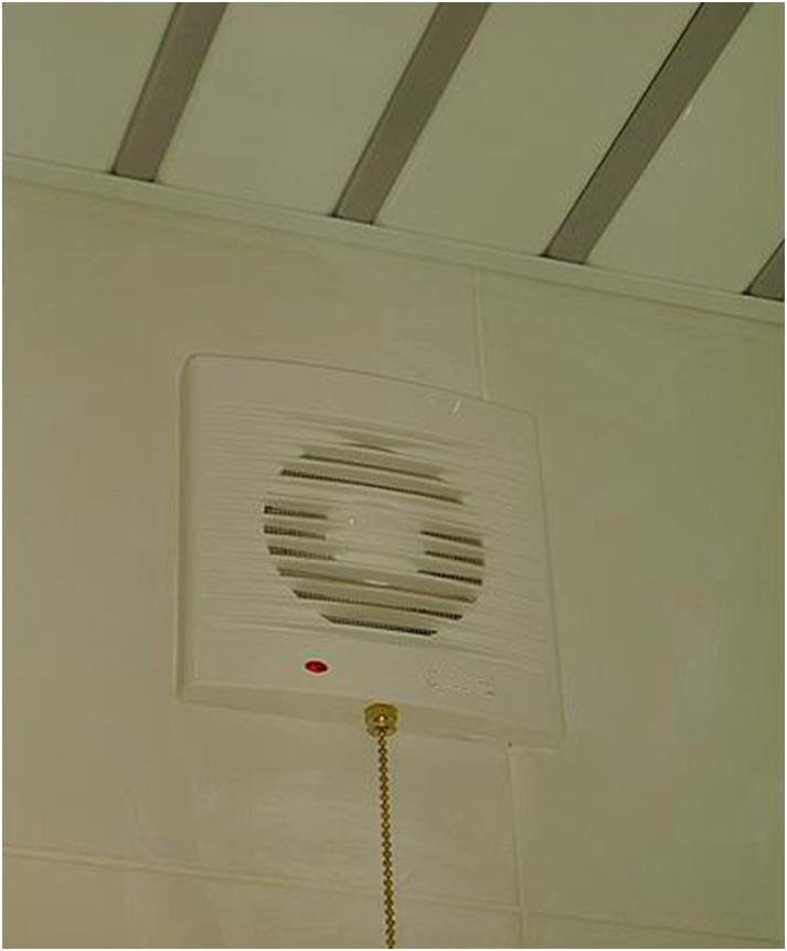 Вытяжка воздуха под потолком