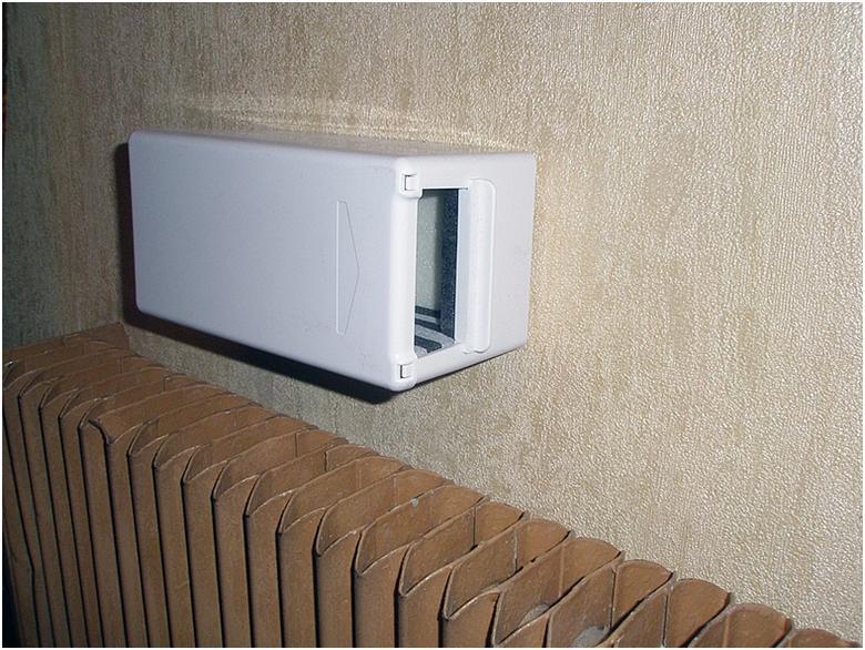 Вентиляционный клапан стенного типа