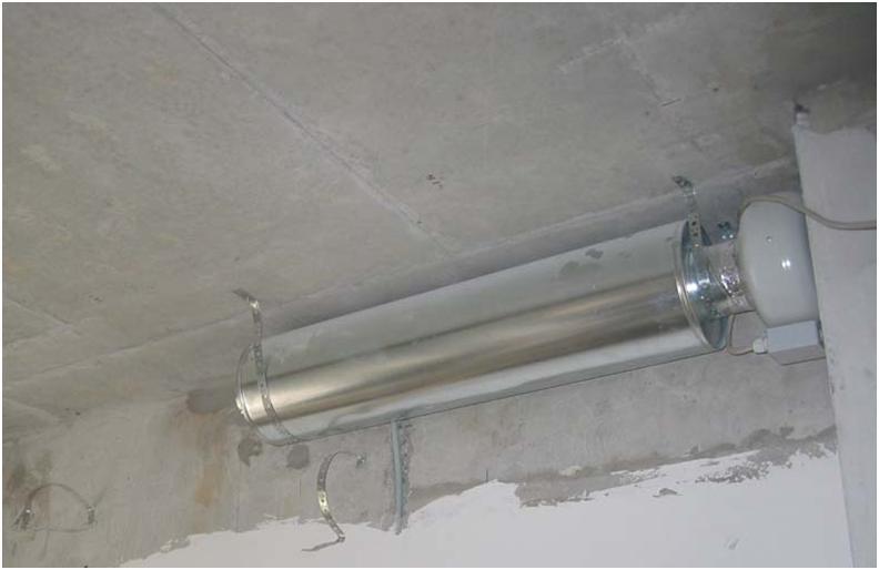 Прокладка воздуховодной сети