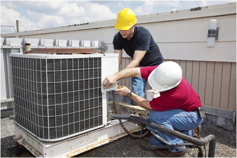 Установка вентиляционного оборудования на крыше
