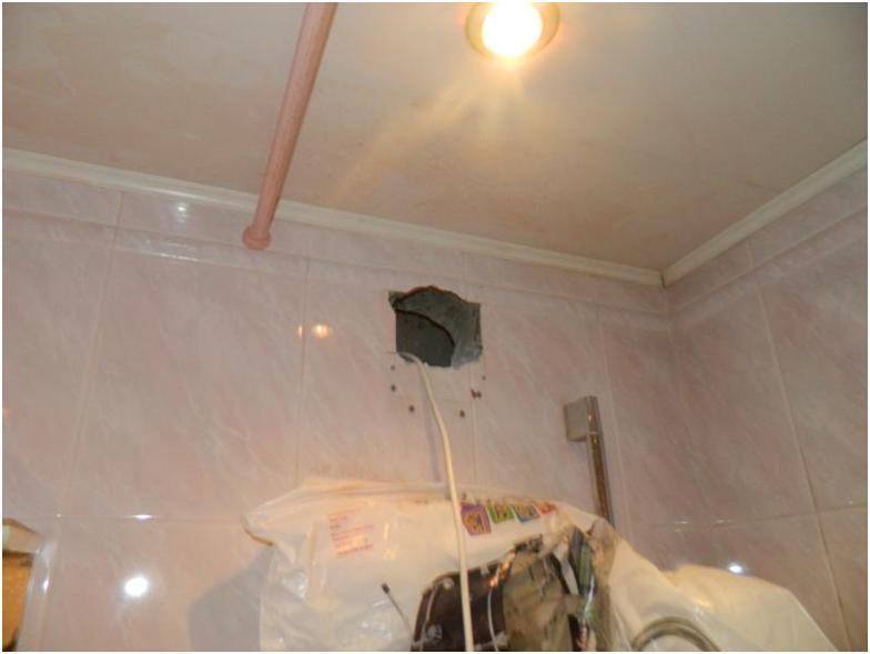 Вытяжное отверстие под потолком