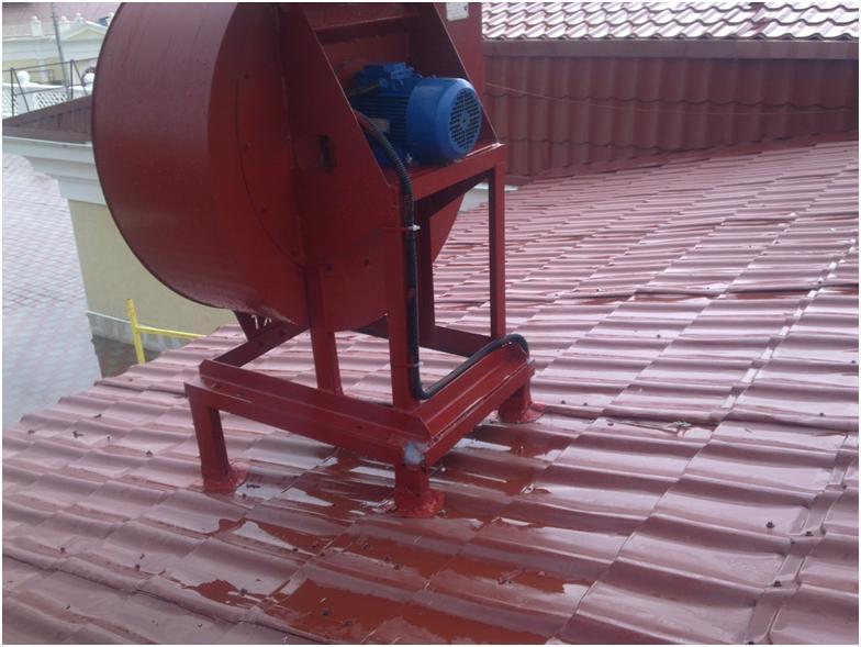 Пример установки устройства на крыше
