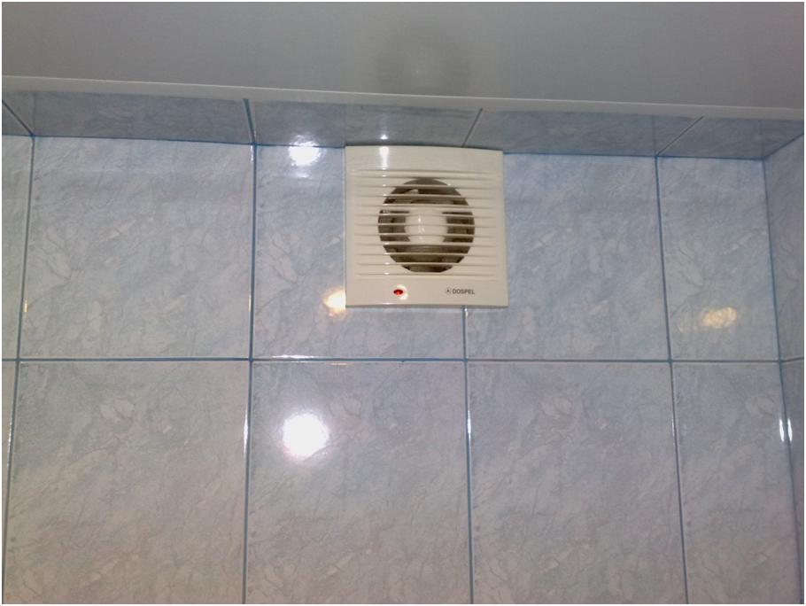 Бытовой вентилятор на стене