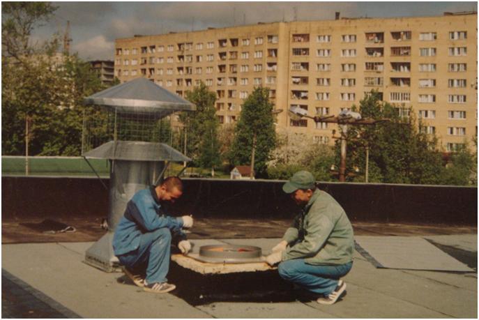 Монтаж оборудования на крыше