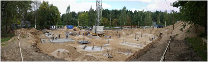 Монтаж бетонных плит