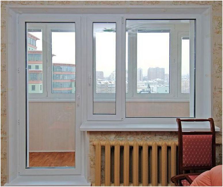 Современные окна и застекленный балкон