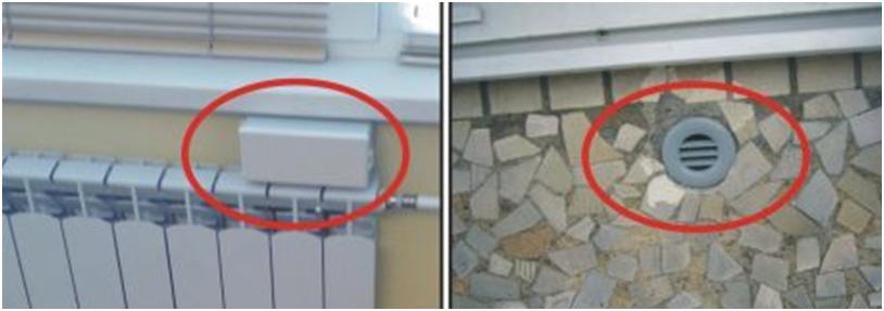 Установка вентиляционного клапана под окном