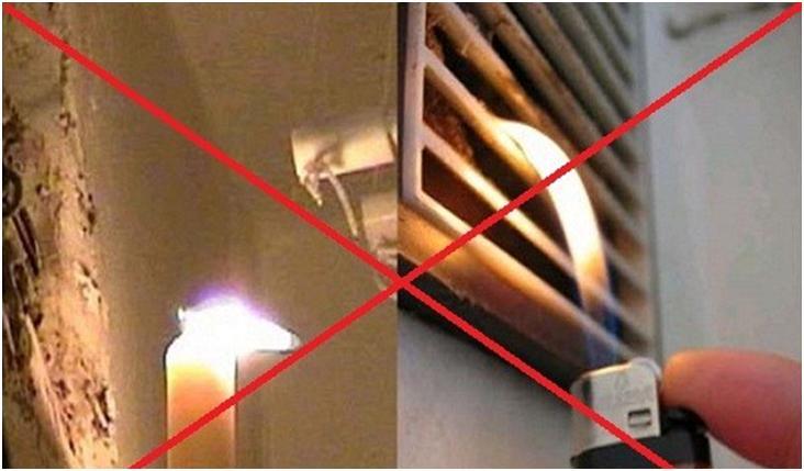 Диагностика работоспособности вытяжки с помощью огня