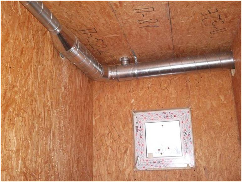 Воздушный канал под потолком