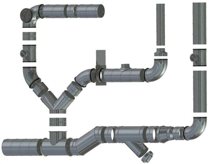 Сеть вентиляционных каналов