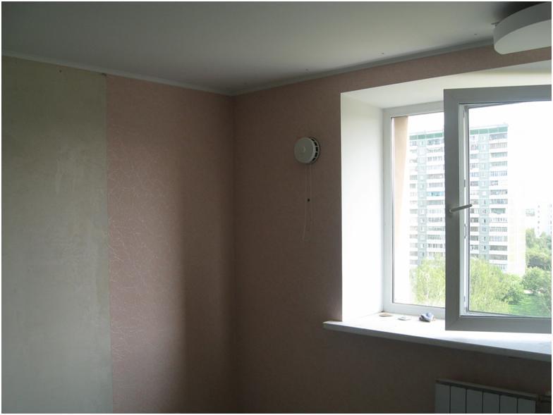 Правильное расположение приточного клапана на стене
