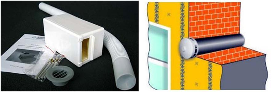 Клапан инфильтрации стенового типа