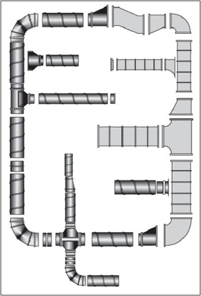Соединение компонентов воздухообменного комплекса