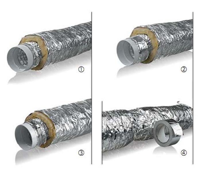 Соединение вентиляционных каналов