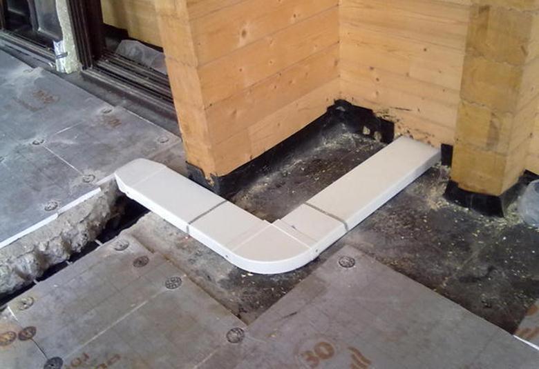 Монтаж вентиляции на этапе закладки фундамента