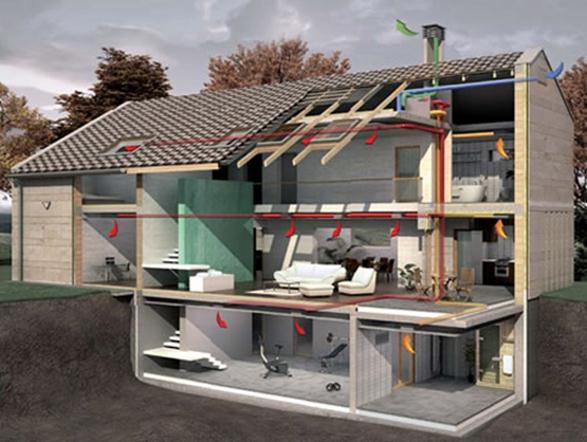Вентилирование жилого строения