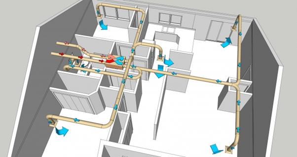 Комбинированная система воздухообмена